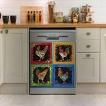 Rooster Art Collection Dishwasher Cover Sticker Kitchen Decor