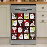 Santa Claus Collage Dishwasher Cover Sticker Kitchen Decor