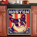 Obey The Boston Terrier Dishwasher Cover Sticker Kitchen Decor