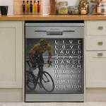 Live Love Laugh Dishwasher Cover Sticker Kitchen Decor
