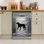 Rhodesian Ridgeback Corners Metal Dishwasher Cover Sticker Kitchen Decor