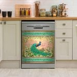 Peacock Jewel Of The Garden Dishwasher Cover Sticker Kitchen Decor