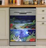 Sea Scenes Dishwasher Cover Sticker Kitchen Decor