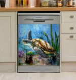 Sea Turtle Abstract Dishwasher Cover Sticker Kitchen Decor