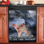 Pig I Am The Storm Dishwasher Cover Sticker Kitchen Decor