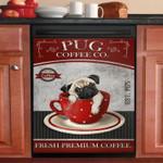 Pug Coffee Co Fresh Premium Coffee Dishwasher Cover Sticker Kitchen Decor