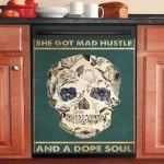 She Got Mad Hustle And A Dope Soul Dishwasher Cover Sticker Kitchen Decor