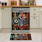 Motocycle Boy And Girl Pattern Dishwasher Cover Sticker Kitchen Decor