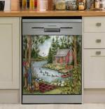 Picnic By The Lake Dishwasher Cover Sticker Kitchen Decor