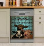 Mint Hello Sexy Butts Cow Dishwasher Cover Sticker Kitchen Decor