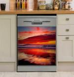 Seaside Sunset Dishwasher Cover Sticker Kitchen Decor