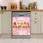 Pomeranian God Says You Are Pink Dishwasher Cover Sticker Kitchen Decor