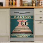 Murder Is Wrong Baking Book Dishwasher Cover Sticker Kitchen Decor