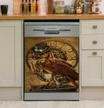 Owl Machine Dishwasher Cover Sticker Kitchen Decor