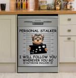 Personal Stalker Yorkshire Terrier Dishwasher Cover Sticker Kitchen Decor
