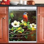 Oriole Bird On Branch Pattern Dishwasher Cover Sticker Kitchen Decor