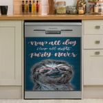 Nap All Day Sleep All Night Party Never Sloth Dishwasher Cover Sticker Kitchen Decor