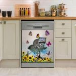 Raccoon Leaves Dishwasher Cover Sticker Kitchen Decor