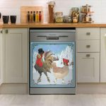 Rooster Snow Dishwasher Cover Sticker Kitchen Decor