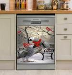 Parrot Snowy Dishwasher Cover Sticker Kitchen Decor