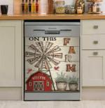 On This Farm We Do Love Dishwasher Cover Sticker Kitchen Decor