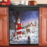 Santa At The Chapel Dishwasher Cover Sticker Kitchen Decor
