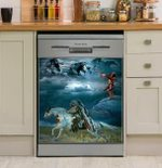 Native American Horses Show Respect Dishwasher Cover Sticker Kitchen Decor