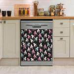 Lovely Poodle Pattern Dishwasher Cover Sticker Kitchen Decoration