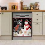 Poodle Snowman Dishwasher Cover Sticker Kitchen Decor