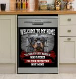 Rottweiler Welcome To My Home Dishwasher Cover Sticker Kitchen Decor
