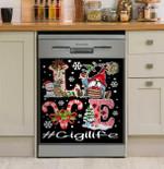 Love Gigi Life New Christmas Art Dishwasher Cover Sticker Kitchen Decor