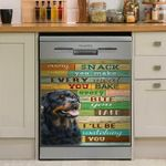 Rottweilers I Will Be Watching You Dishwasher Cover Sticker Kitchen Decor
