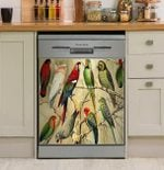Parrot Gift Natural Tropical Dishwasher Cover Sticker Kitchen Decor