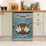 Native American Blue Dream Catcher Dishwasher Cover Sticker Kitchen Decor