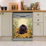Newfie Sunflower Garden Dishwasher Cover Sticker Kitchen Decor