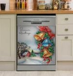 Retro Vintage Christmas Farm Holiday Dishwasher Cover Sticker Kitchen Decor