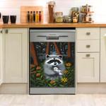 Raccoon Bird Dishwasher Cover Sticker Kitchen Decor