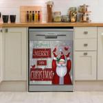 Santa Clause Merry Christmas Dishwasher Cover Sticker Kitchen Decor