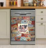 She Works With Her Hands Dishwasher Cover Sticker Kitchen Decor