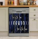Live By The Sun Love By The Moon Dishwasher Cover Sticker Kitchen Decor