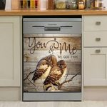 Owl You And Me Dishwasher Cover Sticker Kitchen Decor