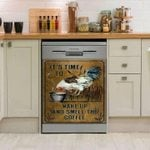 Rooster It's Time To Wake Up Dishwasher Cover Sticker Kitchen Decor