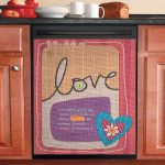 Love Never Give Up Dishwasher Cover Sticker Kitchen Decor