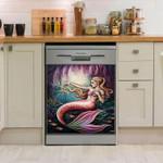 Mermaid Pink Color Dishwasher Cover Sticker Kitchen Decor