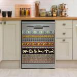 Native American Slate Pattern Dishwasher Cover Sticker Kitchen Decor