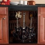 Semi Acoustic Guitar Collection Dishwasher Cover Sticker Kitchen Decor