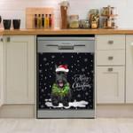 Scottish Terrier Bg Black Pattern Dishwasher Cover Sticker Kitchen Decor