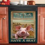 Pig Why Hello Sweet Cheeks Have A Seat Dishwasher Cover Sticker Kitchen Decor