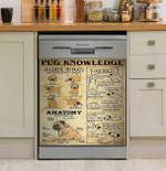 Pug Dog Knowledge Dishwasher Cover Sticker Kitchen Decor