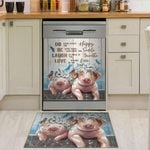 Pig Couple Do What Makes You Happy Dishwasher Cover Sticker Kitchen Decor